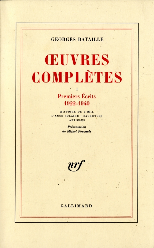 OEuvres completes 1 Premiers Ecrits 1922-1940