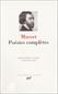 Musset - Poésies complètes (Collection Bibliothèque de la Pléiade)