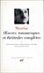 Mauriac: Œuvres romanesques et théâtrales complètes 1-4