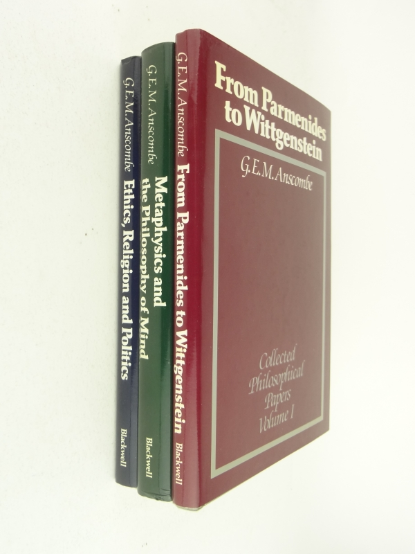 Collected Philosophical Papers of G. E. M. Anscombe, 3 vols.1