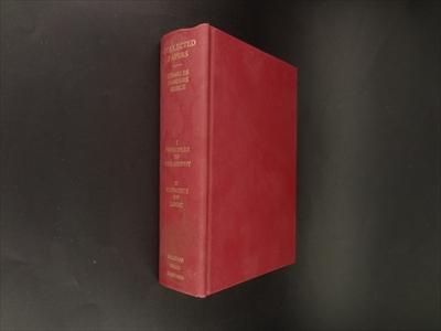 Volumes 1: Principles of Philosophy, Volume 2: Elements of Logic