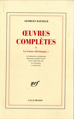 OEuvres completes 5 La Somme atheologique, 1