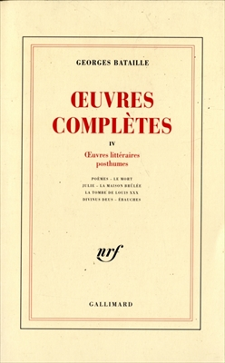 OEuvres completes 4 OEuvres litteraires posthumes