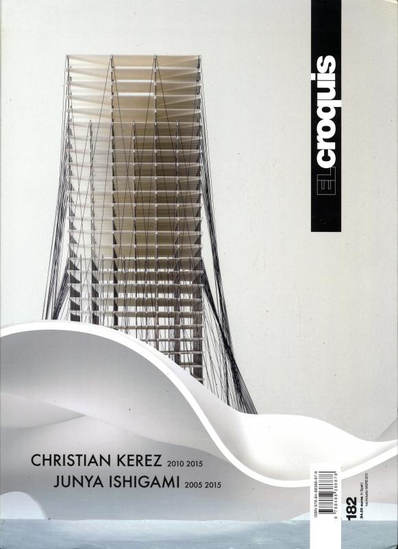 El Croquis N. 182: Christian Kerez 2010-2015 / Junya Ishigami 2005-2015