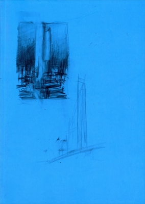 Minoru Nomata blue construction-work in progress