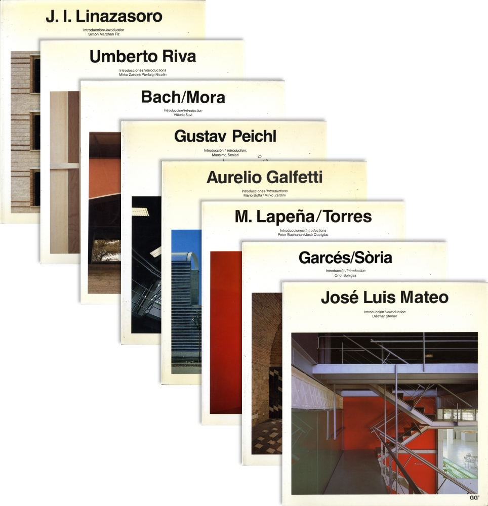 Current Architecture Catalogues (Catalogos de Arquitectura Contemporanea)