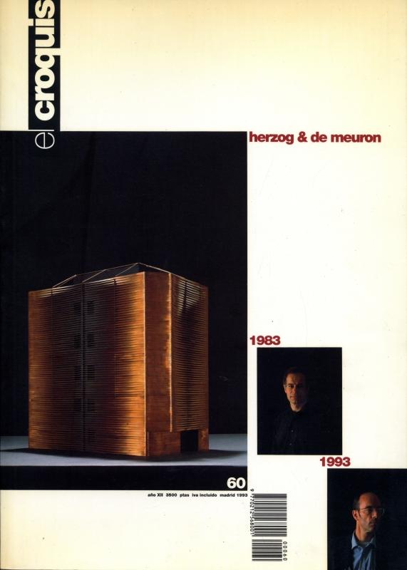 El croquis N. 60: Herzog & de Meuron 1983 1993