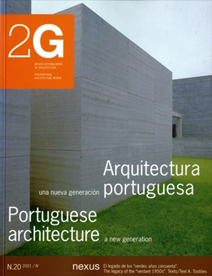 2G: Revista International de Arquitectura #20: Portuguese architecture a new generation