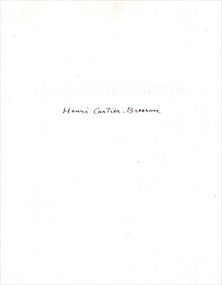 アンリ・カルティエ=ブレッソン Henri Cartier=Bresson