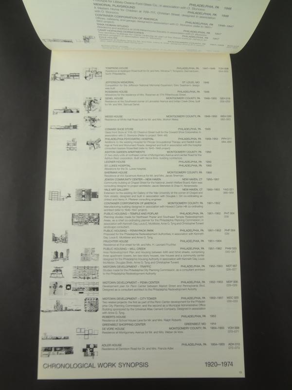 Louis I. Kahn Complete Work 1935-19741