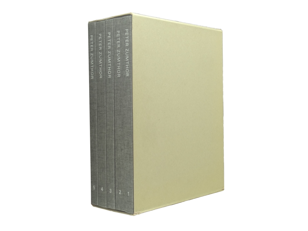 Peter Zumthor 1985-2013: Buildings and Projects 全5巻セット1