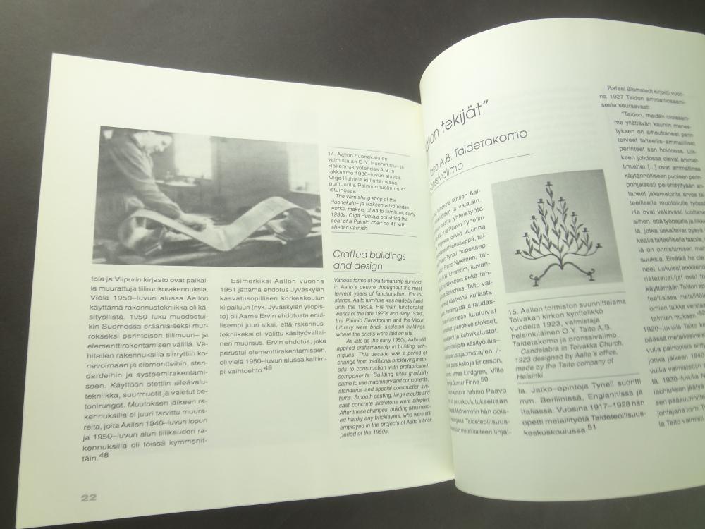 Kasityo-Aalto, inhimillinen tekija / Craft-Aalto-The Human Factor1
