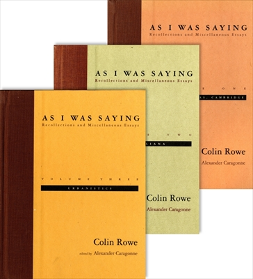 As I Was Saying: Recollections and Miscellaneous Essays, 3 vols. 全3巻