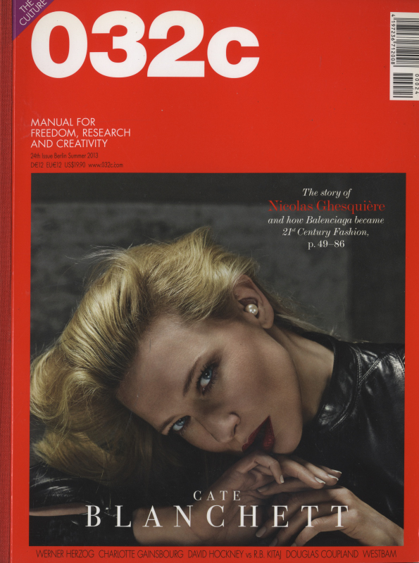 032c magazine Summer 2013 #24 Cate Blanchett