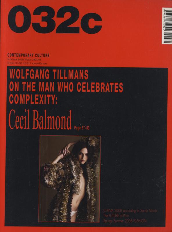 032c magazine Winter 2007/08 #14 Cecil Balmond