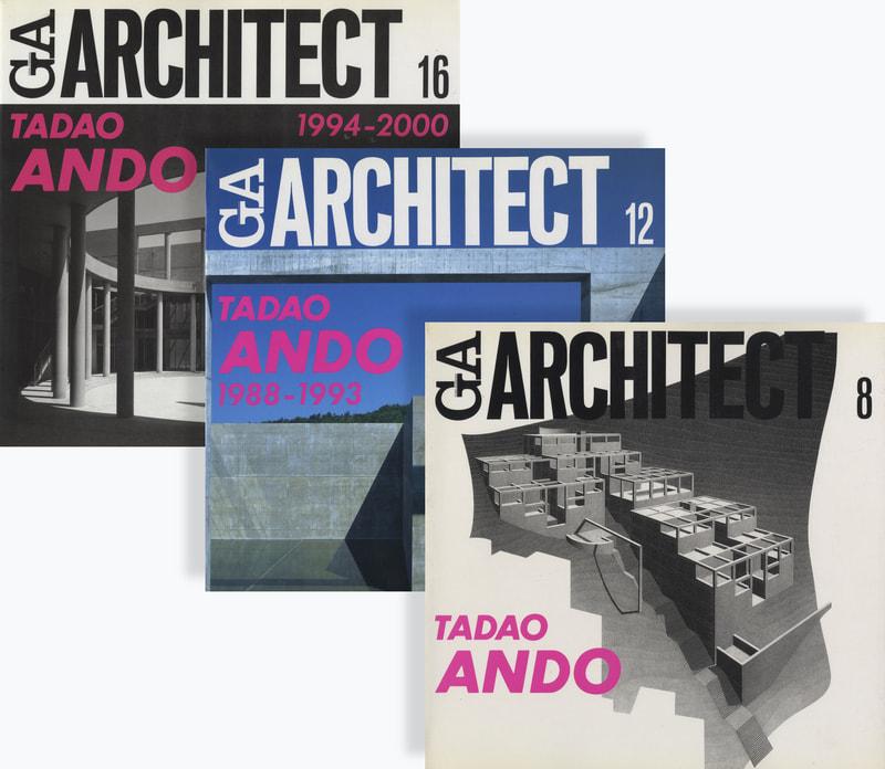 GA ARCHITECT (GA アーキテクト) 安藤忠雄セット #8, 12, 16 3冊